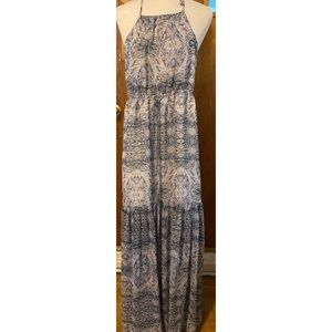 BCBGeneration Blue and White Long Summer Dress